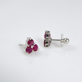 Red Trio Earstuds