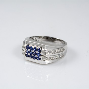 Blue Sapphire Gents Ring